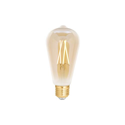 4lite WiZ Connected ST64 Amber White WiFi LED Smart Bulb - E27