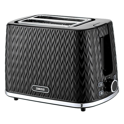Zanussi 2 Slice Toaster - Ribbed Black