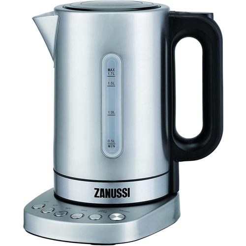 Zanussi Cordless Kettle Stainless Steel with 4 pre set base